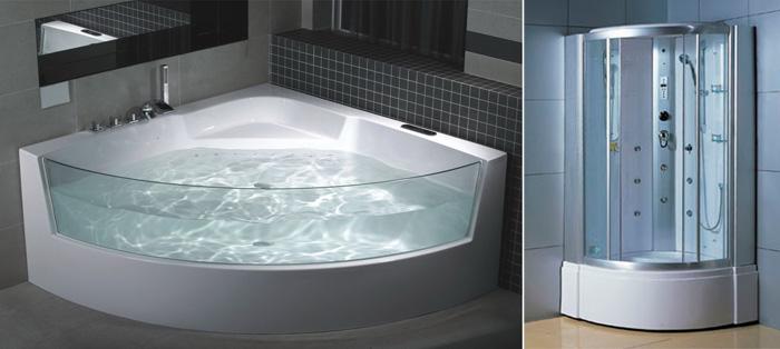 фото ванна-душевая кабина